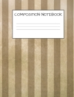 Composition Book: Stripes Cover for Kids Military Families, Elementary School Wide Ruled 120 Pages Cover Image