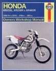 Honda XR250L,XR250R,& XR400R Owners Workshop Manual: 1986-2003 (Owners' Workshop Manual) Cover Image