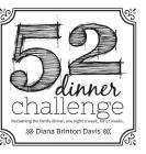 The 52 Dinner Challenge Cover Image