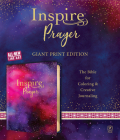 Inspire Prayer Bible Giant Print NLT (Leatherlike, Purple): The Bible for Coloring & Creative Journaling Cover Image