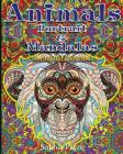 Animals Portrait & Mandalas: coloring book for adults Cover Image