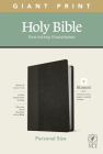 NLT Personal Size Giant Print Bible, Filament Enabled Edition (Red Letter, Leatherlike, Black/Onyx) Cover Image