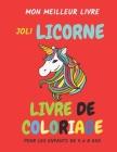 mon meilleur livre - joli licorne livre de coloriage pour les enfants de 4 à 8 ans: pages à colorier, licorne livre de coloriage pour les enfants, Cad Cover Image