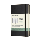 Moleskine 2022 Weekly Horizontal Planner, 12M, Pocket, Black, Hard Cover (3.5 x 5.5) Cover Image