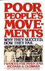 Poor People's Movements: Why They Succeed, How They Fail Cover Image