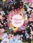 Password Logbook: Black Floral, the Personal Internet Address & Password Log Book with Tabs Alphabetized, Large Print Password Book 8.5 Cover Image