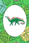 Funny Dinosaur With Easter Eggs: Easter Sunday Journal - Cool Pascha Notebook Resurrection Festival Holiday Mini Notepad Cute Easter Egg Bunny (6