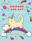 Unicorn and Cat coloring books for kids ages 2-4: Amazing coloring Page with fun and Easy Cover Image