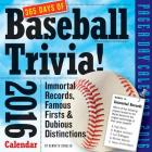 365 Days of Baseball Trivia! Page-A-Day Calendar 2016 Cover Image