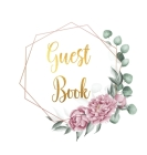Guest Book for visitors and guests to sign at a party, wedding, baby or bridal shower (hardback) Cover Image