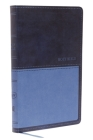Kjv, Value Thinline Bible, Leathersoft, Blue, Red Letter Edition, Comfort Print Cover Image