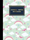 Cornell Notes Notebook: Cornell Note Taking, Cornell Notes Notepad, Note Taking Paper, Cute Unicorns Cover, 8.5