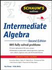 Schaum's Outline of Intermediate Algebra (Schaum's Outlines) Cover Image