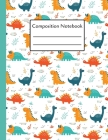 Composition Notebook: Kids Dinosaur Notebook College Ruled Composition Writing Book For School & College 8.5