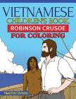 Vietnamese Children's Book: Robinson Crusoe for Coloring Cover Image