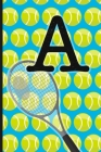 A: Tennis Monogram Initial Notebook for boys Letter A - 6