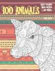 Adult Coloring Book for Pens and Pencils - 100 Animals - Easy Level Cover Image