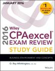 Wiley Cpaexcel Exam Review 2016 Study Guide January: Business Environment and Concepts Cover Image