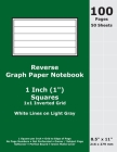 Reverse Graph Paper Notebook: 1 Inch (1 in) Squares; 8.5