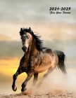 2021-2025 Five Year Planner: Large 60-Month Monthly Planner (Wild Stallion) Cover Image