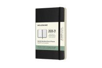 Moleskine 2020-21 Weekly Planner, 18M, Pocket, Black, Soft Cover (3.5 x 5.5) Cover Image