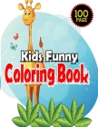 Kids Funny Coloring Book: Age 4-12-Stress Relieving Designs-ith Super Hero, Unicorn, Micky Mouse, Puppy, FIsh animal And More-100 Page Color WIt Cover Image