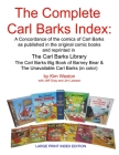 The Complete Carl Barks Index LARGE PRINT INDEX EDITION Cover Image