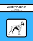 Weekly Planner: Boxer; 18 months; July 1, 2019 - December 31, 2020; 8