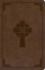 KJV Large Print Personal Size Reference Bible, Brown Celtic Cross LeatherTouch Cover Image