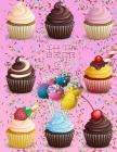 甜品涂色书: 杯子蛋糕着色书 冰淇淋着色书 Cover Image