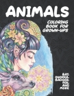 Animals - Coloring Book for Grown-Ups - Bat, Quokka, Badger, Fox, and more Cover Image