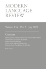Modern Language Review (116: 3) July 2021 Cover Image