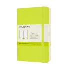 Moleskine Classic  Notebook, Pocket, Plain, Lemon Green, Soft Cover (3.5 x 5.5) Cover Image