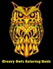 Groovy Owls Coloring Book: Best Adult Coloring Book with Cute Owl Portraits, Fun Owl Designs, interested 50+ unique design every one must loved i Cover Image
