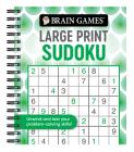 Brain Games - Large Print Sudoku (Swirls) Cover Image