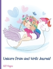 Unicorn Draw and Write Journal: Grades K-2 Primary Composition Half Page Lined Paper with Drawing Space (8.5 x 11 Notebook), Learn To Write and Draw ( Cover Image