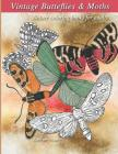 Vintage butterflies & Moths: Vintage Nature coloring books for adults Cover Image