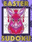 Easter Sudoku: Sudoku Puzzles Game Book with Solutions for Kids, Teens, Seniors, Adults - One Puzzle Per Page - Large Print - Purple Cover Image