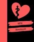 SPN Notebook: Student Nurse (LPN preparation) Notebook Gift - 120 Pages Ruled With Personalized Cover Cover Image