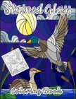Stained Glass Coloring Book with designs of flowers, animals and landscapes Cover Image