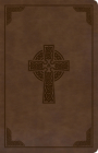 KJV Large Print Personal Size Reference Bible, Brown Celtic Cross LeatherTouch, Indexed Cover Image