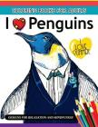I love Penguin coloring Book for Adults: An Adult coloring book Cover Image