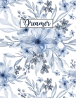Dreamer: Wide Ruled Paper with BW birds and butterfly illustrations on the margins 8.5 x 11 150 Pages, Perfect for School, Offi Cover Image