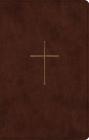 ESV Premium Gift Bible (Trutone, Brown, Cross Design) Cover Image