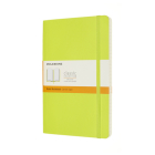 Moleskine Classic Notebook, Large, Ruled, Lemon Green, Soft Cover (5 X 8.25) Cover Image