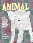 Adult Coloring Book for Colored Pens and Pencils - Animal - Stress Relieving Designs Cover Image