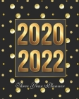 2020-2022 Three Year Planner: Golden Dots Monthly Schedule Organizer, Large 3 Year Agenda Planner With Inspirational Quotes Cover Image