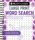 Brain Games - Large Print Word Search (Swirls) Cover Image