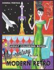 Mid-century Modern Retro Adult Coloring Book Cover Image