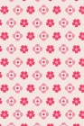 Notes: A Blank Sheet Music Notebook with Simple Pink Flower Pattern Cover Art Cover Image